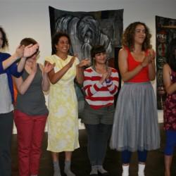 The Dancers applaude choreographers Casey Auvant and Sue Roginski